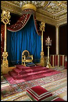 Throne room, Palace of Fontainebleau. France