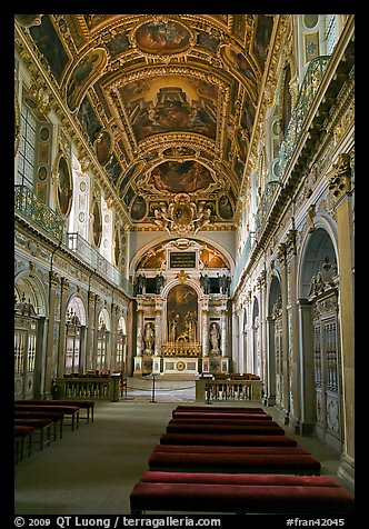 Chapel of the Trinity, palace of Fontainebleau. France (color)