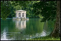 Pavillion and Etang des Carpes, Fontainebleau Palace. France ( color)