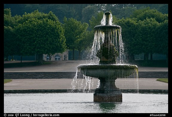 Fountain, Fontainebleau Palace. France (color)