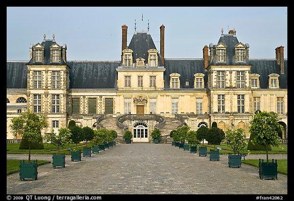 picture photo cour des adieux fontainebleau palace france. Black Bedroom Furniture Sets. Home Design Ideas