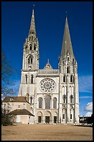Flamboyant and pyramidal spires, Chartres Cathedral. France
