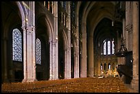 Interior of Chartres Cathedral. France