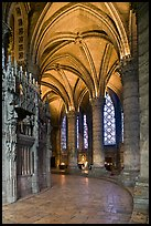 Ambulatory, Cathedrale Notre-Dame de Chartres. France ( color)