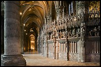 Sanctuary and Aisle, Cathedral of Our Lady of Chartres,. France