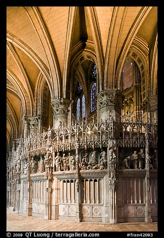 Sanctuary and vaults, Cathedral of Our Lady of Chartres,. France (color)