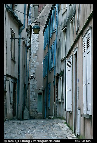 Alley, Chartres. France (color)