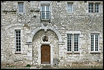 Facade of stone house, Provins. France