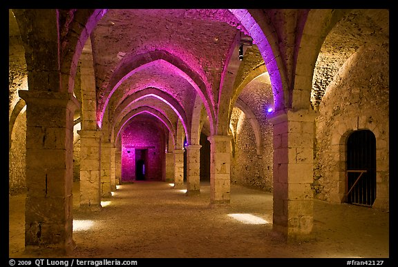 Underground gallery, Provins. France (color)