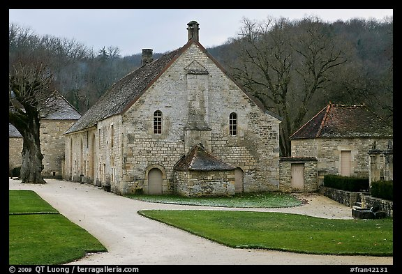 Cistercian Abbey of Fontenay. Burgundy, France (color)