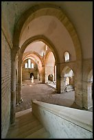 Church interior, Abbaye de Fontenay. Burgundy, France ( color)