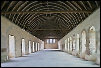 Dormitory, Cistercian Abbey of Fontenay. Burgundy, France ( color)