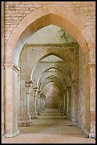 Row of arches, Abbaye de Fontenay. Burgundy, France