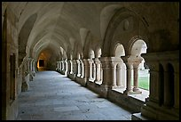 Cloister, Cistercian Abbey of Fontenay. Burgundy, France (color)