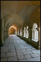 Cloister gallery, Fontenay Abbey. Burgundy, France (color)