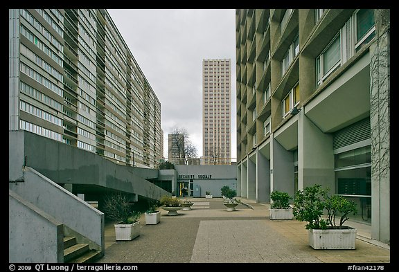 High-rise residential towers, Olympiades. Paris, France