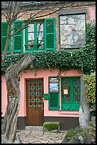 Lapin Agile cabaret facade, Montmartre. Paris, France ( color)