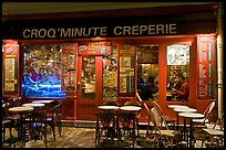 Creperie, Montmartre. Paris, France