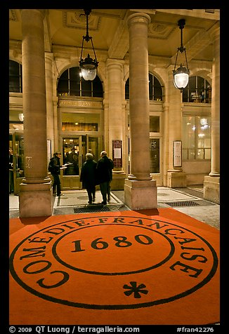 Entrance of Comedie Francaise. Paris, France (color)
