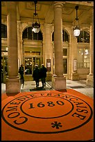 Entrance of Comedie Francaise. Paris, France