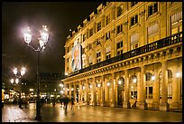 Comedie Francaise Theater by night. Paris, France