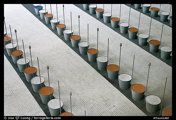 Barrels and sticks,  Roissy Charles de Gaulle Airport. France (color)