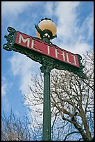 Metro sign and sky. Paris, France ( color)