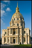 South side of the Invalides hospice with domed royal chapel. Paris, France (color)