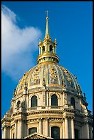 Baroque Dome Church of the Invalides. Paris, France (color)