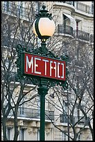 Metro sign. Paris, France (color)