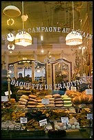 Pastries in bakery storefront. Paris, France ( color)