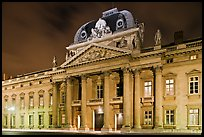 Ecole Militaire by night. Paris, France (color)