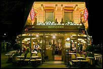 Brasserie by night. Paris, France
