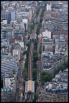 Metro line seen from above. Paris, France (color)