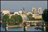 Passerelle des Arts and Ile de la Cite. Paris, France (color)