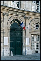 Entrance of the Institut de France. Quartier Latin, Paris, France