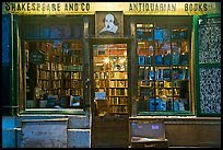Shakespeare and Co bookstore at dusk. Quartier Latin, Paris, France ( color)