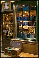 Shakespeare and Co storefront at night. Quartier Latin, Paris, France ( color)