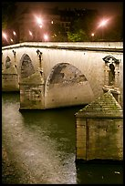 Pont-Neuf at night. Paris, France (color)