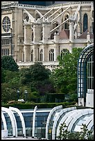 Detail of Forum des Halles and Saint-Eustache church. Paris, France (color)