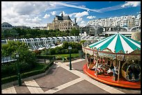 Carousel, Forum des Halles and Saint-Eustache church. Paris, France ( color)