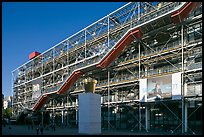 Centre George Pompidou (Beaubourg) in postmodern style. Paris, France ( color)