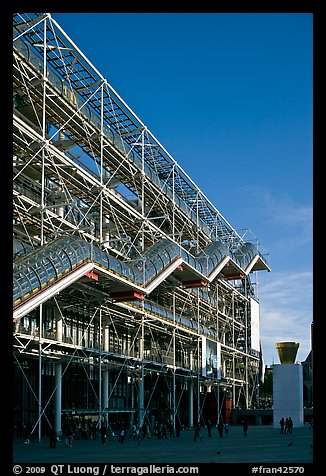 Beaubourg center and National Museum of Modern Art. Paris, France