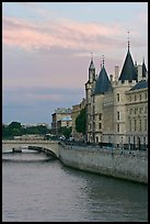 Conciergerie and Seine river. Paris, France (color)