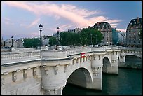 Pont Neuf at sunset. Paris, France (color)