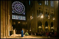 Catholic Mass celebration. Paris, France