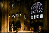 Crossing and south transept during mass. Paris, France ( color)