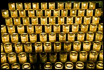 Array of candles, Notre-Dame cathedral. Paris, France ( color)