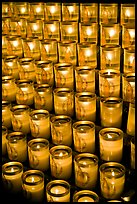 Candles, Notre-Dame cathedral. Paris, France (color)