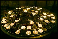 Circle of candles, Notre-Dame cathedral. Paris, France (color)